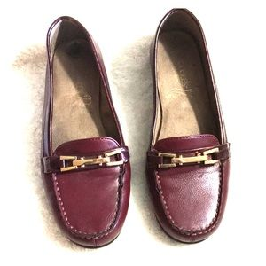 Aerosoles Burgundy Red Loafers